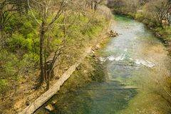 Springtime View of the Roanoke River - 5. Springtime view of the Roanoke River from the Roanoke River Greenway located in Roanoke, Virginia, USA royalty free stock photography