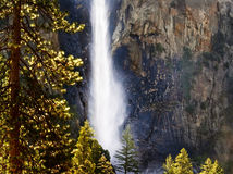 Springtime Waterfall, Yosemite Royalty Free Stock Photos