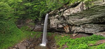 Springtime Waterfalls. The lowest falls of Hills Creek in Monongahela National Forest in southern West Virginia Stock Photography