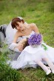 Springtime wedding Royalty Free Stock Photos
