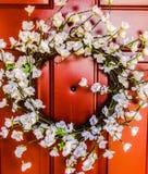 Springtime wreath stock image
