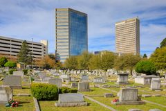 Springwood Cemetery Greenville South Carolina Royalty Free Stock Images