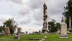 Springwood Cemetery Time Lapse Video stock video footage