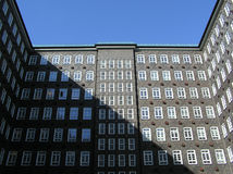 Sprinkenhof. An old office building in Hamburg, Germany Royalty Free Stock Photos