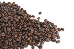 Sprinkle of coffee beans Royalty Free Stock Photo