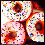 Sprinkle donuts Royalty Free Stock Images