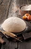 Sprinkle with flour dough Stock Photography