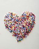 Sprinkle heart Stock Photography