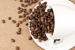 Sprinkled cup of coffee Stock Photo
