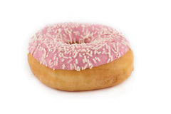 Sprinkled donut on white background Royalty Free Stock Image