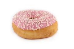 Sprinkled donut on white background. Sprinkled donut isolated on white background Royalty Free Stock Image