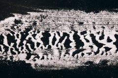 Sprinkled flour, zebra background Stock Photos
