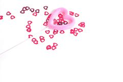 Sprinkled Hearts. Little hearts and big heart Royalty Free Stock Photo