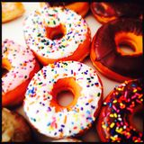 Sprinkled ring donuts Royalty Free Stock Photo