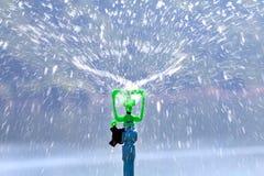 Sprinkler вода автоматическая в саде для моча травы стоковое изображение