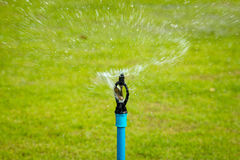 Sprinkler. In park with Grass royalty free stock photos