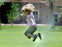 Sprinkler Fun Stock Photography