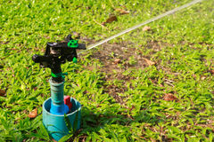 Sprinkler in garden. In thailand Royalty Free Stock Photography