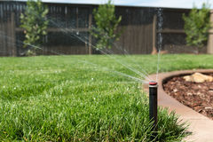 Lawn Sprinkler Head Stock Image
