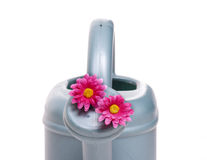 Sprinkler with pink flower Royalty Free Stock Photos