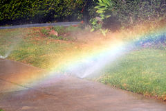 Sprinkler rainbow Royalty Free Stock Photos