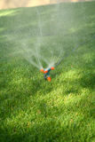 Sprinkler spraying water Royalty Free Stock Image
