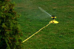 Sprinkler spraying water Royalty Free Stock Images