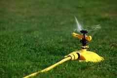 Sprinkler spraying water Stock Image