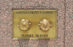 Sprinkler standpipe Royalty Free Stock Photo