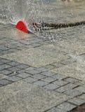 Sprinkler on street Royalty Free Stock Photo