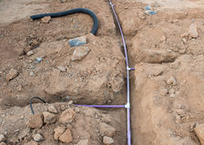 Sprinkler System Installation Stock Photos