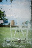 Sprinkler in water fountain at a park, Manizales Royalty Free Stock Photos