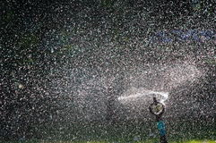 Sprinkler water. Stock Photos
