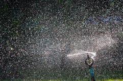 Sprinkler water. Stock Photos