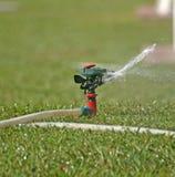 Sprinkler watering Stock Images