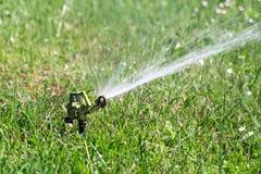 Sprinkler watering in garden Royalty Free Stock Photo