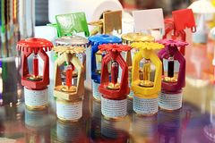 Sprinklers Of Different Colors Royalty Free Stock Photos