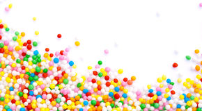 Sprinkles. Colorful sprinkles making a frame Stock Image