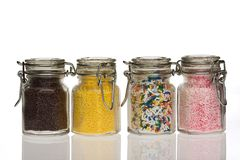 Sprinkles. Colored sprinkles Stock Image