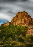 Sprinkles of Autumn. Red rock in Capital Reef National Park Utah USA Royalty Free Stock Photography