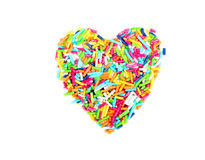 Sprinkles shaped as heart Stock Images