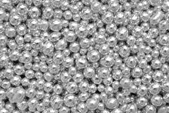 Sprinkles silver balls. Sprinkles silver sweet sugar balls Royalty Free Stock Image
