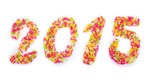 2015 with sprinkles Stock Image
