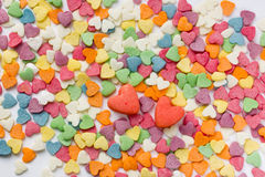 Sprinkls сахара в форме сердец Стоковая Фотография RF