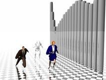 Sprint aan succes. vector illustratie