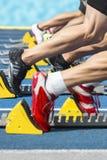 Sprint-Aktionsanfang Lizenzfreie Stockfotografie