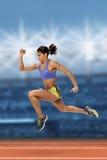 Sprint biegacz Obraz Royalty Free