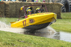 Sprint boat competitor on short course. Royalty Free Stock Photo