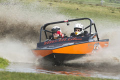 Sprint boat competitor on short course. Royalty Free Stock Photography