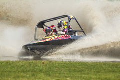 Sprint boat competitor on short course. Royalty Free Stock Image